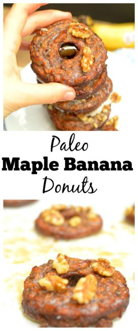 Paleo Maple Banana Donuts Pinterest