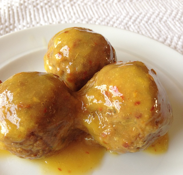 The tasty Mango Lime Meatballs will please all the meat eaters too! They are such a great dinner over pasta or a delicious appetizer!