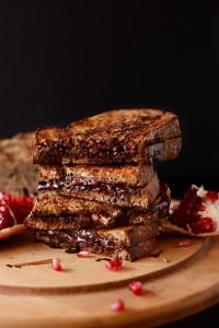 Grilled-Almond-Butter-Dark-Chocolate-Pomegranate-Sandwich-minimalistbaker.com_