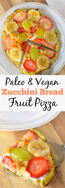 Take your breakfast to the next level with this healthy Zucchini Bread Breakfast Pizza!  It's low-carb, paleo and vegan friendly!