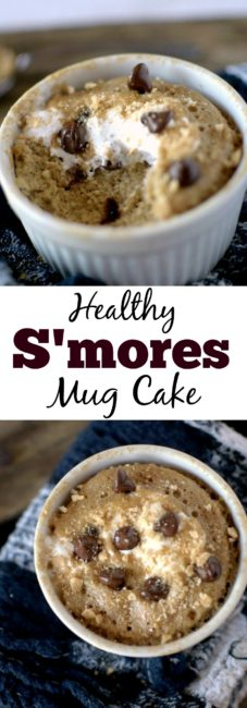 No need for a campfire to enjoy your favorite summer sweet! All you need are a few simple ingredients, a mug and a microwave to create this Healthy S'mores Mug Cake! You won't believe it's vegan and gluten-free!