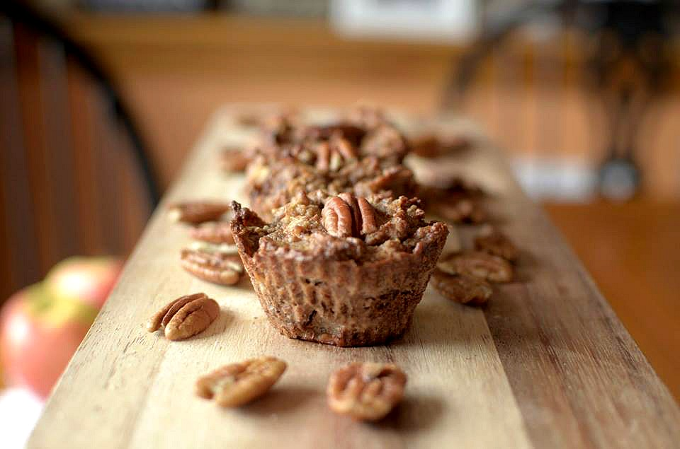Flourless Apple Pecan muffins 3