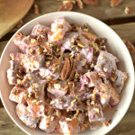 http://athleticavocado.com/2015/11/16/cranberry-sweet-potato-salad/