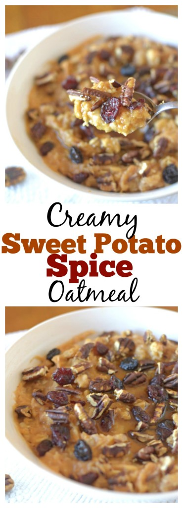 sweet potato spice oatmeal