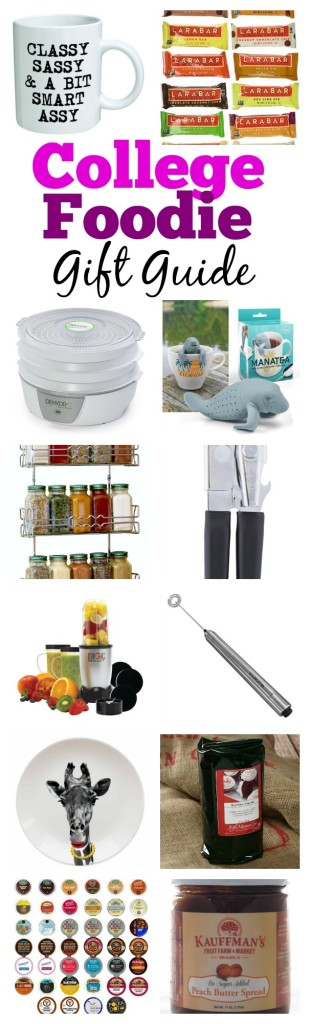 Don't know what gift to give a college student who loves all things food? Look no further and check out this college foodie gift guide!