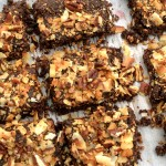 Have your cake and eat it too, for breakfast! These Vegan and Paleo German Chocolate Cake Breakfast Bars are super simple to make