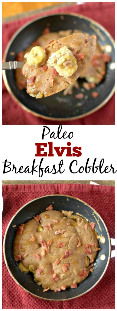 Need a reason to wake up in the morning? This Paleo Elvis Breakfast Cobbler is worth getting out of bed! Also Gluten-free, grain-free and dairy-free!