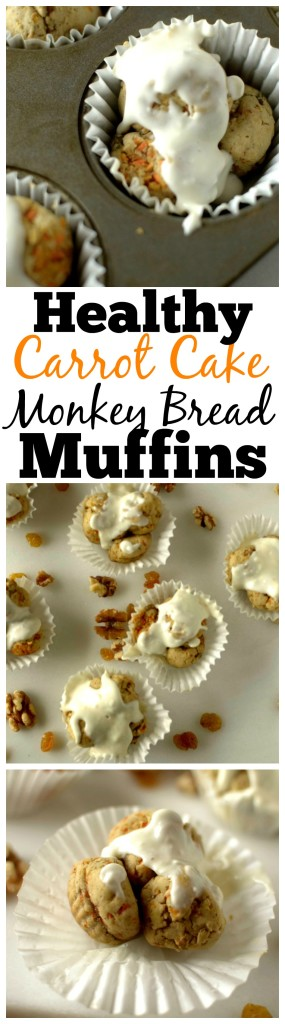 You won't believe how easy and tasty these Paleo Carrot Cake Monkey Bread Muffins are! They take less than 10 minutes to assemble. They are also Vegan, gluten-free, grain-free with a dairy-free option!