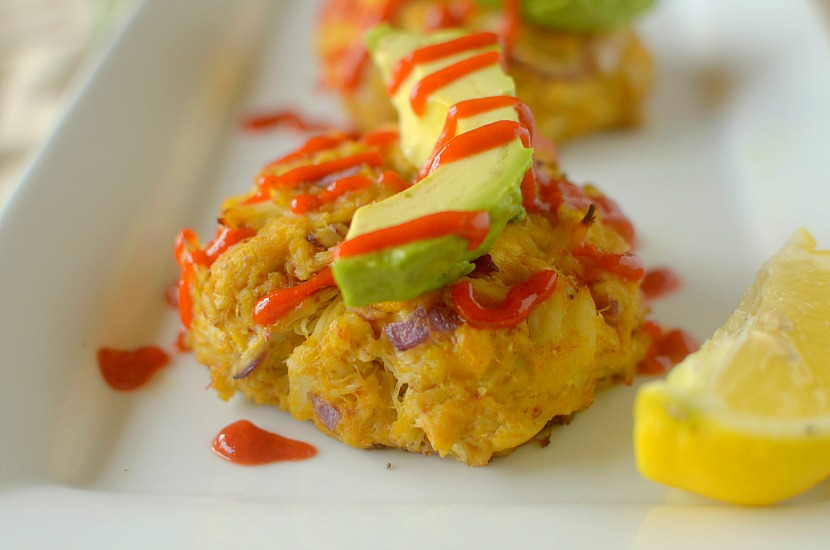 These Sriracha Mango Avocado Crab Cakes are a unique take on the Maryland classic. They are a delicious, healthy and easy-to-make meal bursting with flavor. Also paleo and whole 30 friendly!
