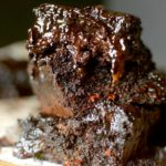 These Paleo Dark Chocolate Fudge Zucchini Brownies are so dense and fudgey that you would never guess that they are guilt-free! Also vegan and gluten-free!