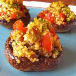 Avocado Couscous Stuffed Mushrooms