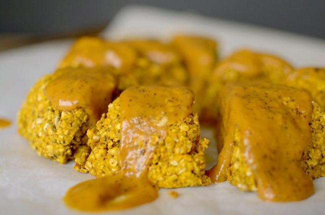Vegan Pumpkin Chai Oatmeal Scones 1