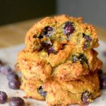 Healthy Banana Blueberry Muffin Tops because why waste the bottom when you can just eat the best part? So easy-to-make and are the perfect on-the-go breakfast or snack made with REAL ingredients! Also paleo, gluten-free and have a vegan option!