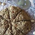 green tea pistachio oat scones