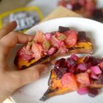 Grilled Sweet Potato Toast with Beet Salsa 2