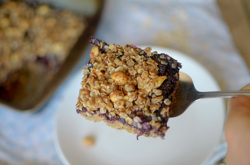 Peanut Butter & Jelly Chickpea Coffee Cake combines the classic flavor combo and is a healthy breakfast or brunch treat made flourless with chickpeas! So easy-to-make with REAL ingredients! Also vegan and gluten-free!