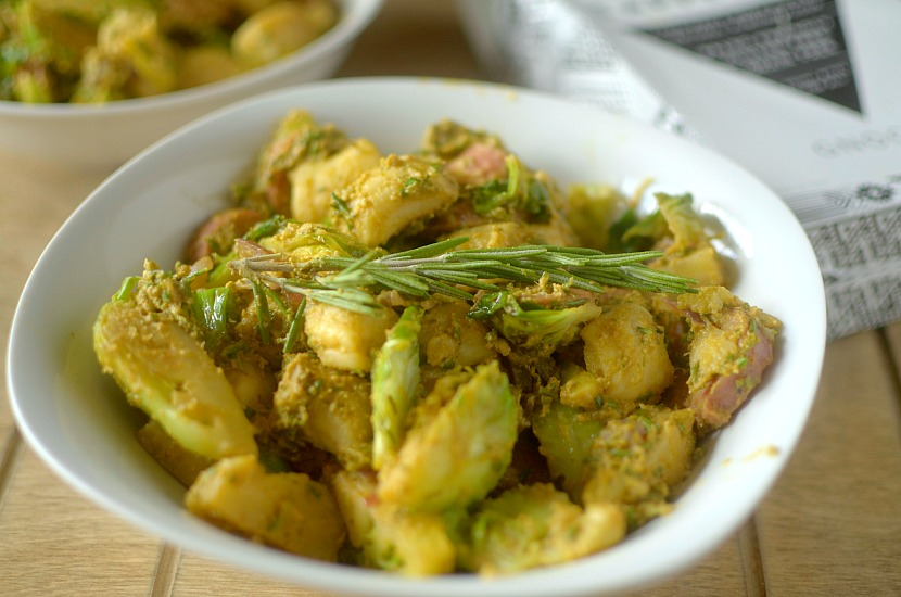 Looking for a crowd-pleasing Fall pasta dish? Make this Paleo Pumpkin Rosemary Pesto Gnocchi! It's full of autumn flavors while being grain-free!