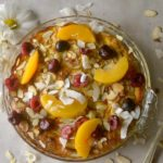 Cinnamon Spiced Fruit Sweet Frittata is a high fiber, delicious whole30 breakfast option filled with naturally sweet fruit, coconut and almonds! Can also be made ahead for meal prep!