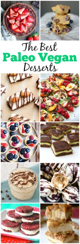 50+ of the Best Paleo Vegan Desserts to make for any holiday or special occasion! They are all so easy to make and so delicious! All are gluten-free, dairy-free, and grain-free on top of being paleo and vegan too!